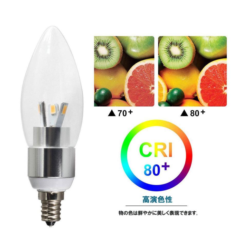 LED電球 シャンデリア型 40W形相当 電球色  480lm シャンデリア用LED電球E12 E14 E17 E26 口金 クリア電球 全配光タイプ nissin-lux 03