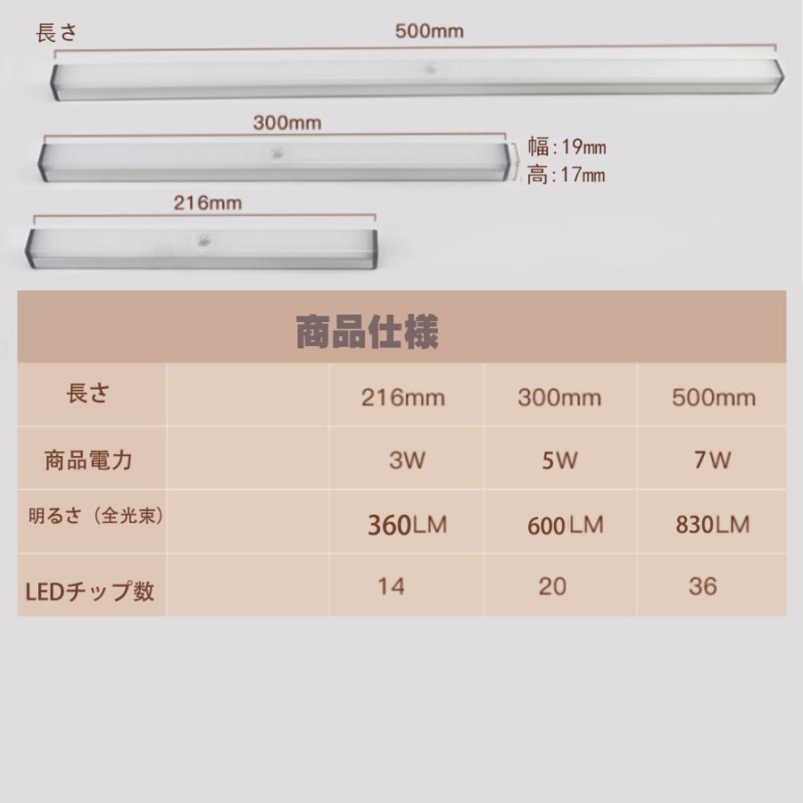 USB充電式LEDライト 電池不要 LEDライト人感センサー付き 無段階調光 懐中電灯 50cm バーライトマグネット内蔵多機能操作ボダン付き 光センサー付きLEDライト|nissin-lux|09