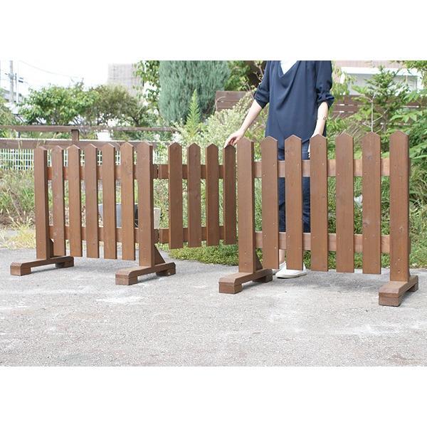 扉付き木製ピケットフェンス90 全長234cm|niwazakka