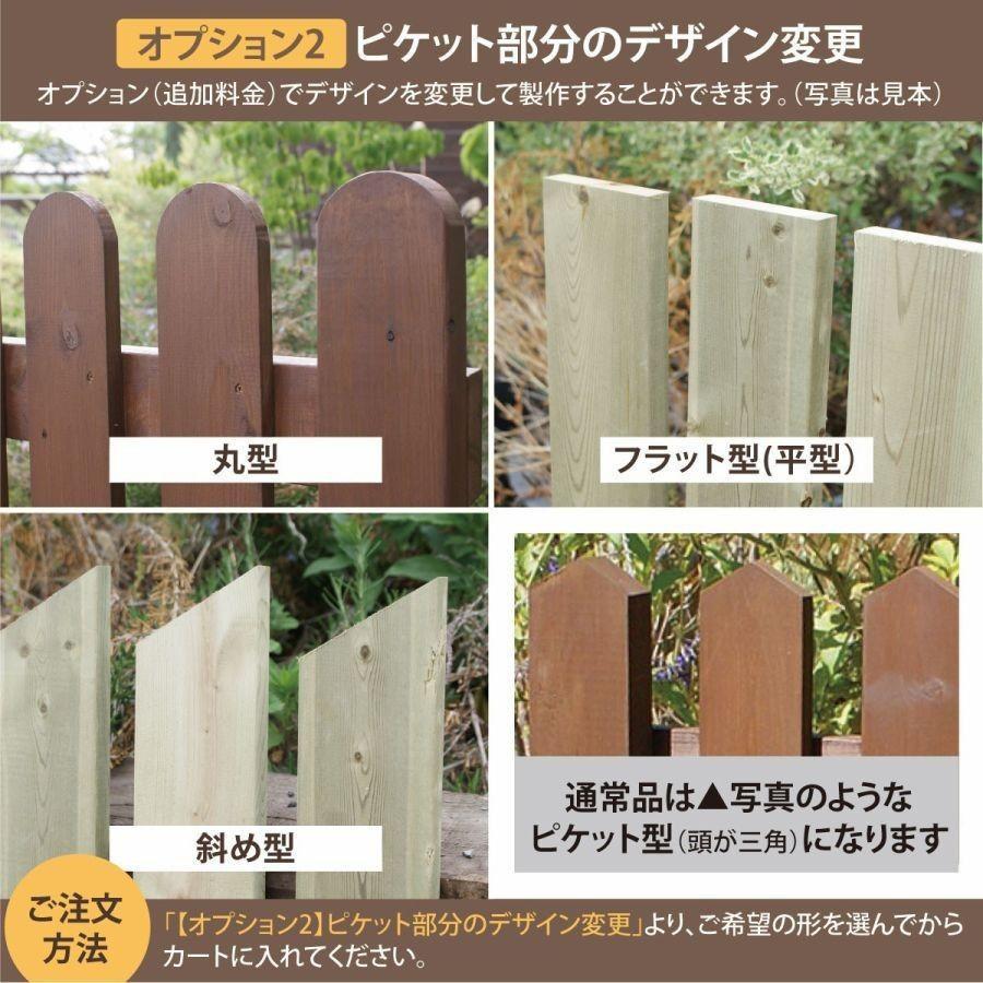 扉付き木製ピケットフェンス90 全長234cm|niwazakka|11