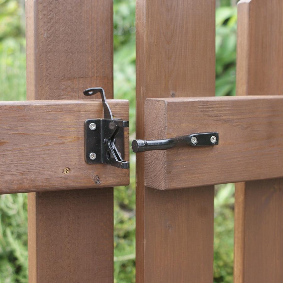 扉付き木製ピケットフェンス90 全長234cm|niwazakka|04