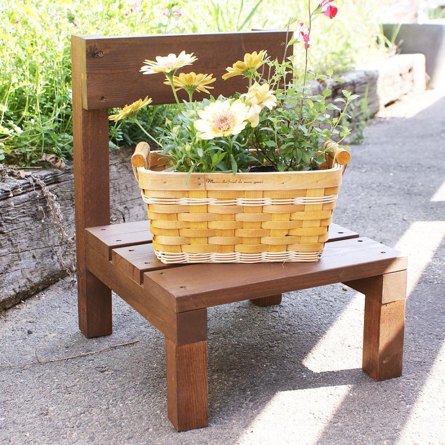 木製ミニ椅子 鉢台チェア|niwazakka