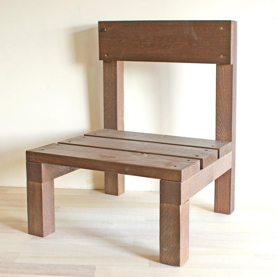 木製ミニ椅子 鉢台チェア|niwazakka|02