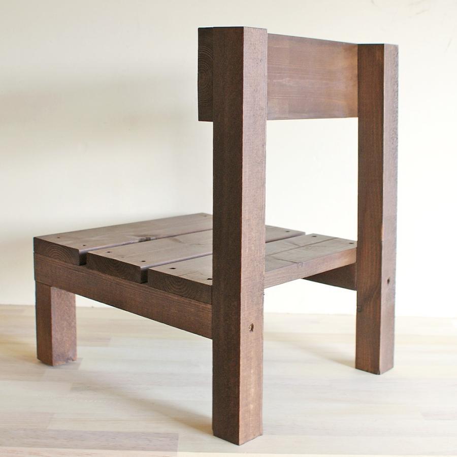 木製ミニ椅子 鉢台チェア|niwazakka|04