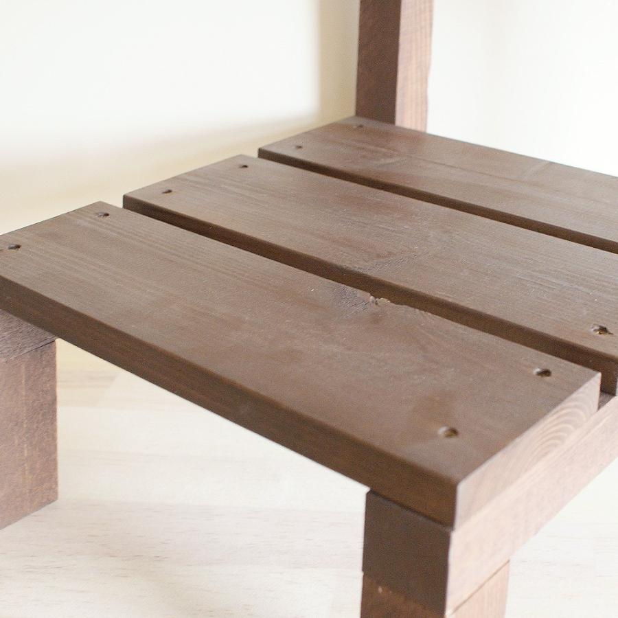 木製ミニ椅子 鉢台チェア|niwazakka|05