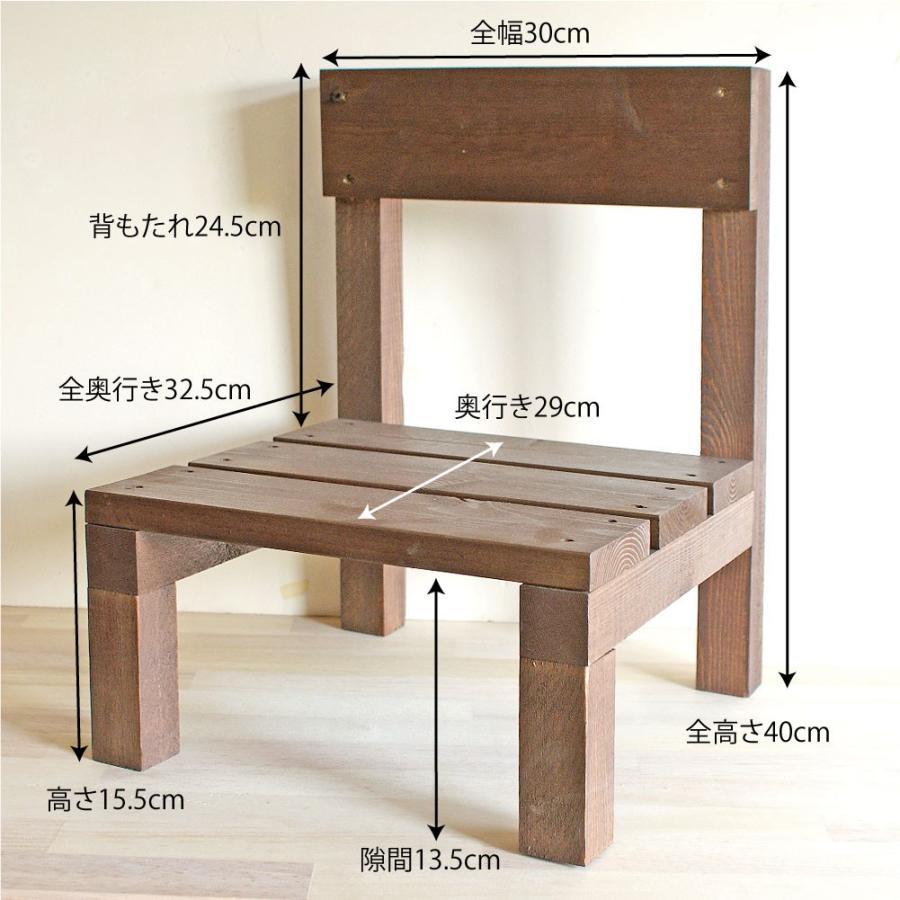 木製ミニ椅子 鉢台チェア|niwazakka|06