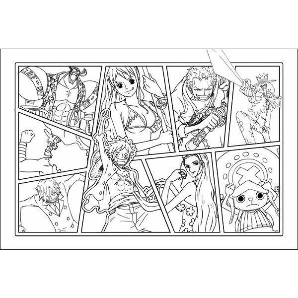 韓国語のぬりえ本 ワンピース One Piece カラーリングブック 3塗り絵