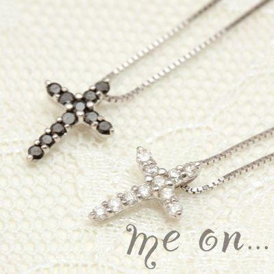 結婚祝い (お届け予定、約1ヶ月後)ネックレス me on クロス ブラックダイヤモンド&ダイヤモンド(受注生産), MiSAIL 63ceddc1