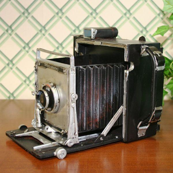 <<セール30%オフ>>輸入雑貨 小物入れ カメラ スピードグラフィック ヴィンテージ レプリカ|noainterior