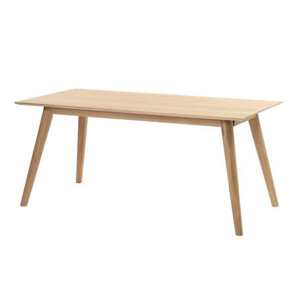 サンフラワーラタン 天然オーク無垢材 ダイニングテーブル 160cm幅 L2T360NA ナチュラル 代引不可 引越便