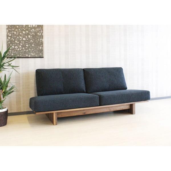天然木ウォールナット無垢材を贅沢に使用した3人掛けソファー国産・日本製 天然木ウォールナット無垢材を贅沢に使用した3人掛けソファー国産・日本製