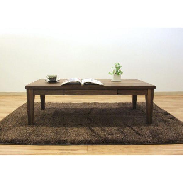 北欧モダンテイスト・天然木無垢材ナラ&ウォールナット・テーブル・ブラックチェリー