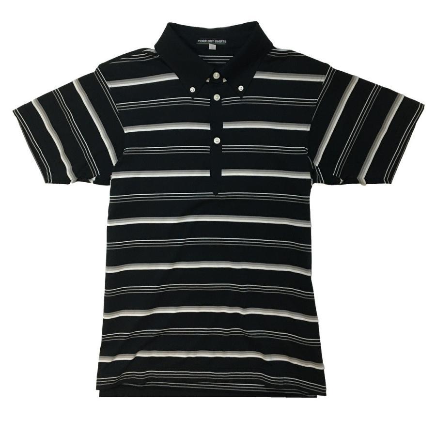 プロギア PRGR AS-2808 ポロシャツ ゴルフ ポロ ゴルフウエア メンズ 男性用 スポーツウエア サイズ M ブラック