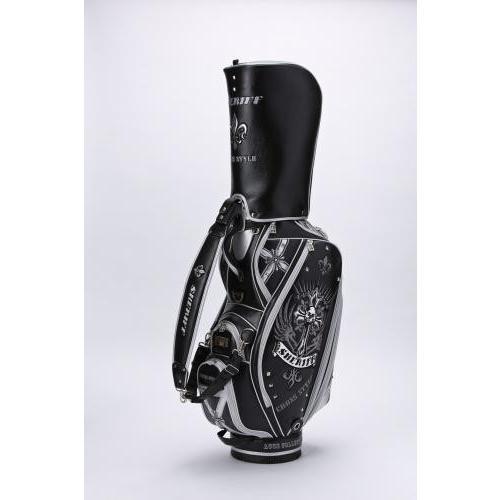 SHERIFF シェリフ ゴルフ キャディバッグ 65本限定 キャディーバック ゴルフバック ドクロ クロス ブラック SAC-003