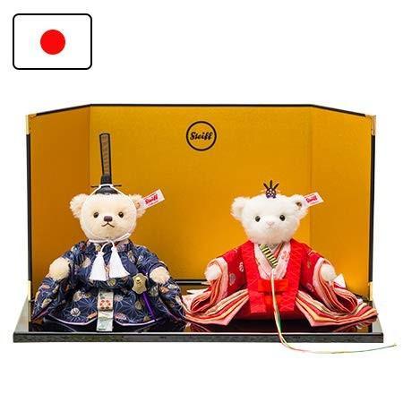 シュタイフ Steiff 雛人形 雛人形 テディベアひな人形2019 親王飾り 678615 日本限定1500体
