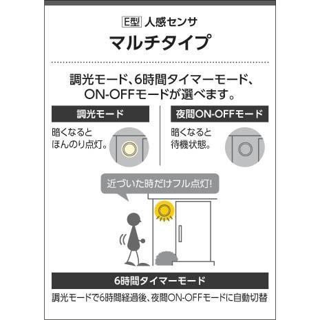 コイズミ照明 防雨型ブラケット人感センサ付(白熱球60W相当)電球色 AU42398L