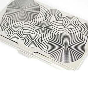 カードケース アクメスタジオ デザイナー ヴェルナー・パントン CIRCLEシリーズ エッチド カードケース C2VP06BC nomado1230 03