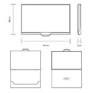 名刺入れ アクメスタジオ デザイナー ヴェルナー・パントン GEOMETRIシリーズ ビジネス カードケース CVP01BC nomado1230 04