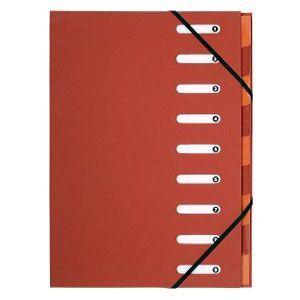 ドキュメントケース A4 エグザコンタ マルチパートファイル 9分割 3冊セット レッド 52985E|nomado1230