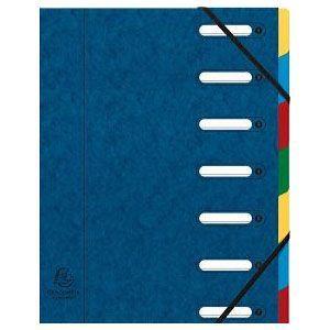 ドキュメントケース A4 エグザコンタ マルチパートファイル 7分割 4冊セット ブルー 55072E nomado1230