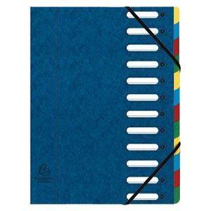 ドキュメントケース A4 エグザコンタ マルチパートファイル 12分割 3冊セット ブルー 55122E|nomado1230