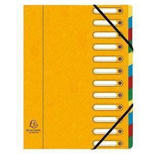 ドキュメントケース A4 エグザコンタ マルチパートファイル 12分割 3冊セット イエロー 55129E|nomado1230