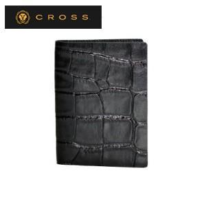 カードケース メンズ 革 名入れ クロス ココ・バイ・カラー ビジネスカードケース ブラック AC058141-1|nomado1230