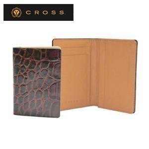 カードケース メンズ 革 名入れ クロス ココ・バイ・カラー ビジネスカードケース ブラウン×キャメル AC058141-2|nomado1230