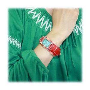 腕時計 革 ケイシーズ(KCs) ウォッチブレス レディース バージニア レッド KIR516D nomado1230 02