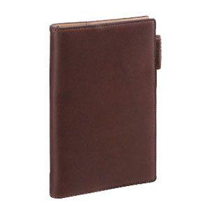 ダヴィンチ ダ・ヴィンチ グランデ アースレザー ポケットイズ リング11ミリ システム手帳 ダークブラウン JDP805E|nomado1230