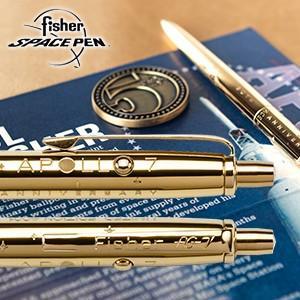 高級 ボールペン フィッシャー 限定版 アポロ7号50周年記念 ゴールドチタニウム アストロノートスペースペン&コインセット AG7-LE nomado1230