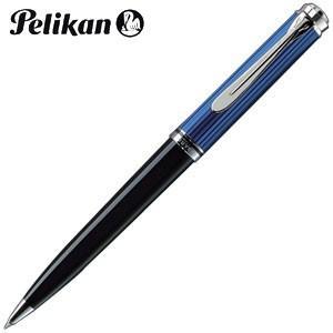 高級 ボールペン 名入れ ペリカン ボールペン替芯 クロ F細字 プレゼント対象商品 スーベレーン シルバートリム K805 ボールペン ブルー縞 K805 BL|nomado1230