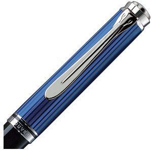 高級 ボールペン 名入れ ペリカン ボールペン替芯 クロ F細字 プレゼント対象商品 スーベレーン シルバートリム K805 ボールペン ブルー縞 K805 BL|nomado1230|02