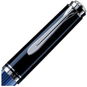万年筆 名入れ ペリカン ボトルインク ロイヤルブルー プレゼント対象商品 スーベレーン シルバートリム M805 万年筆 ブルー縞 M805 BL|nomado1230|02