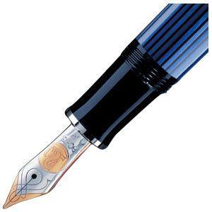 万年筆 名入れ ペリカン ボトルインク ロイヤルブルー プレゼント対象商品 スーベレーン シルバートリム M805 万年筆 ブルー縞 M805 BL|nomado1230|04