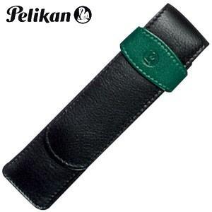 ペンケース 革 名入れ ペリカン レザー ペンケース 2本用 グリーン TG-22|nomado1230