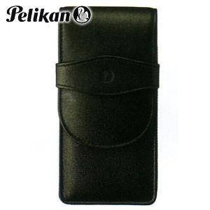 ペンケース 革 名入れ ペリカン レザー ペンケース 4本用 ブラック TG-41|nomado1230