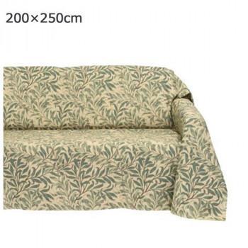 川島織物セルコン Morris Design Studio ウィローボウ マルチカバー 200×250cm HV1716 G グリーン 送料無料  メーカー直送、期日指定不可、ギフト包装不可、