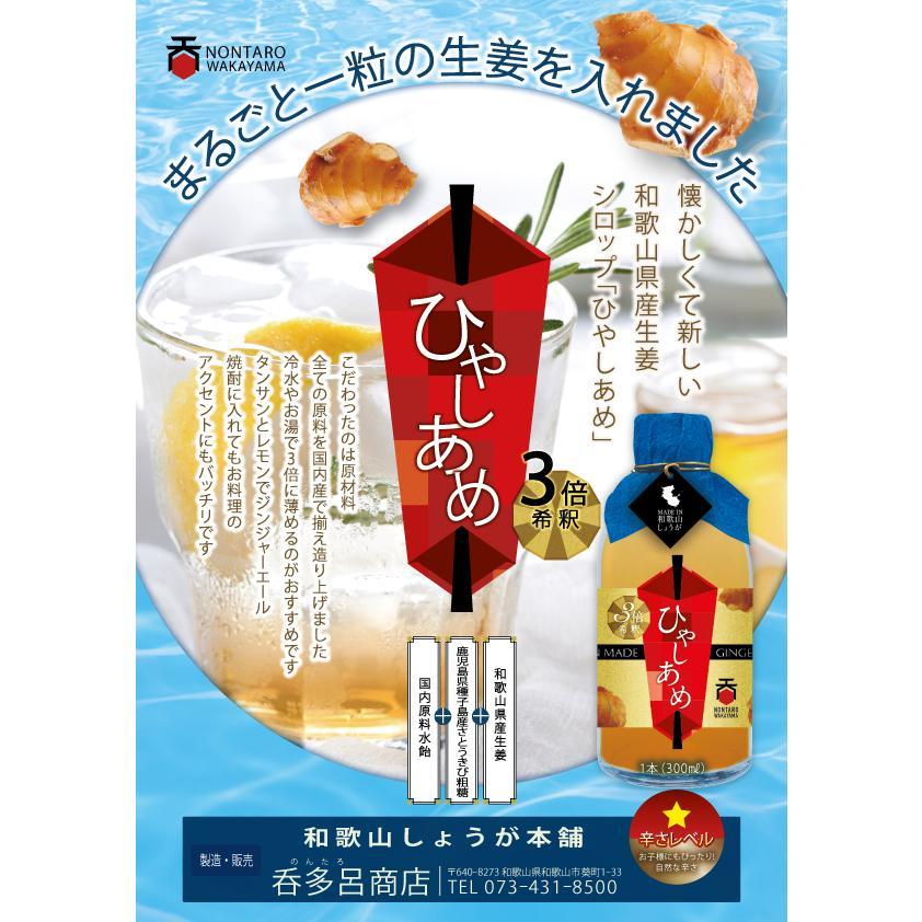 和歌山産生姜100%使用!呑多呂商店の【ひやしあめ】濃縮タイプ 300ml|nontaro