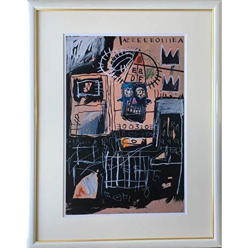 バスキア「ローンズ」ジクレー版画70.8cm×55.5cm額縁つき版画