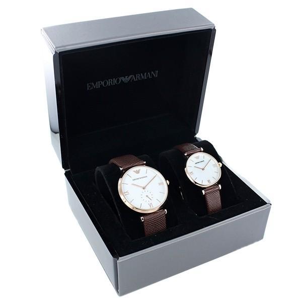 【絶品】 エンポリオアルマーニ 腕時計 ペアウォッチ 40mm 30mm ホワイト 40mm/シェル文字盤 ブラウン レザー ブラウン AR9042 あすつく 腕時計, ブエングスト:f19d6d5a --- airmodconsu.dominiotemporario.com