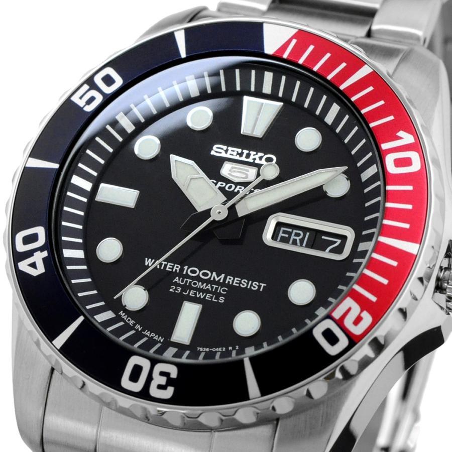 送料無料 新品 腕時計 SEIKO セイコー 日本製 Japan  海外モデル セイコー5 ファイブスポーツ 自動巻き  メンズ SNZF15J1|north-star