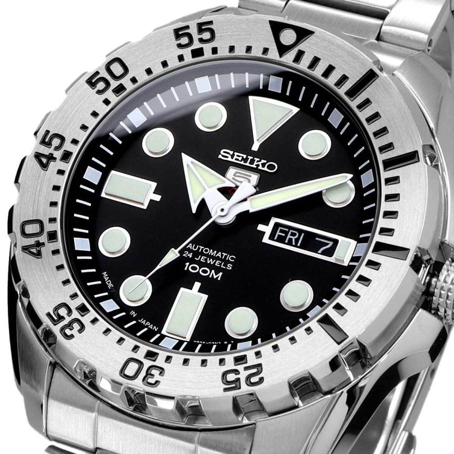 送料無料  新品 腕時計 SEIKO セイコー 海外モデル セイコーファイブ 5スポーツ 日本製 Made in japan 自動巻き メンズ SRP599J1 north-star