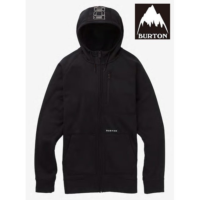BURTON Men's Burton Crown Bonded Full-Zip Hoodie True 黒 バートン 撥水パーカー