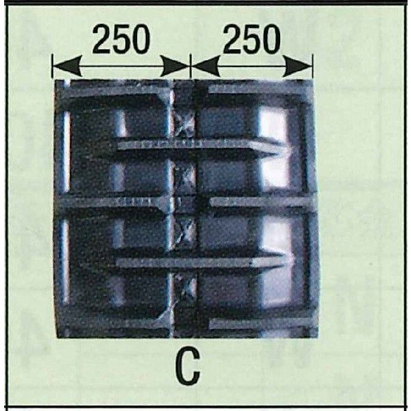 KBL コンバインゴムクローラ 500×90×54コマ Cパターン