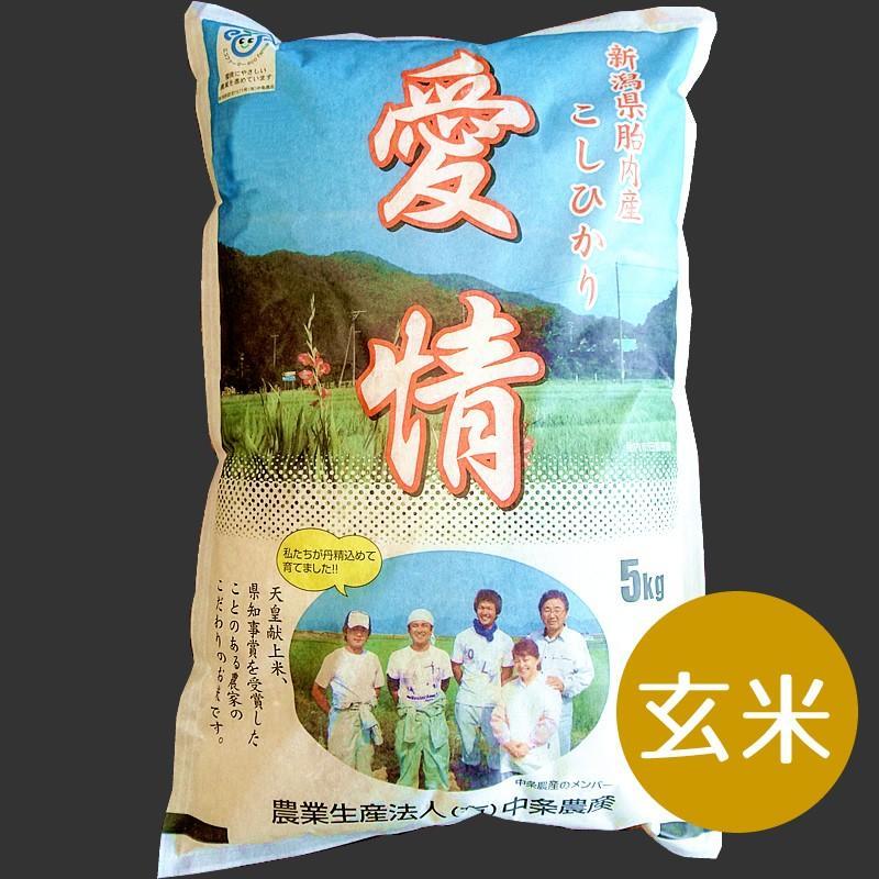 特別栽培米コシヒカリ(玄米)5Kg【新潟県胎内産】|nousan