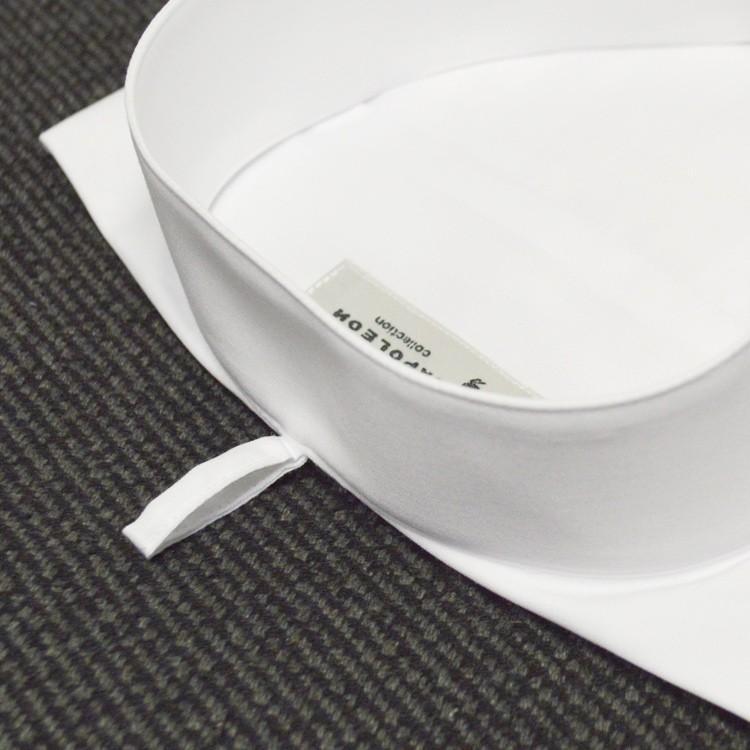 (結婚式) ウィングカラーシャツ ワイシャツ/白(シングルカフス/アジャスタブル)mu018(比翼仕立て・フライフロント)形態安定|novianovio-ys|12