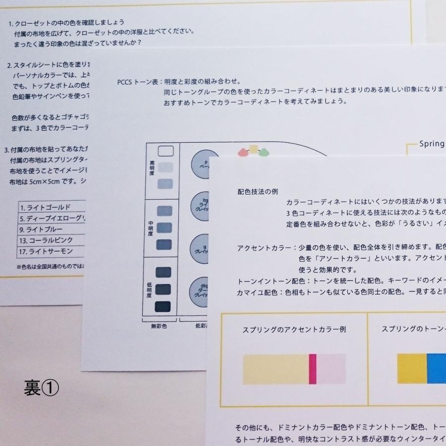 パーソナルカラー 10タイプ カラーコーディネート 練習セット 布 配色 練習|nrkcolorshop2|04