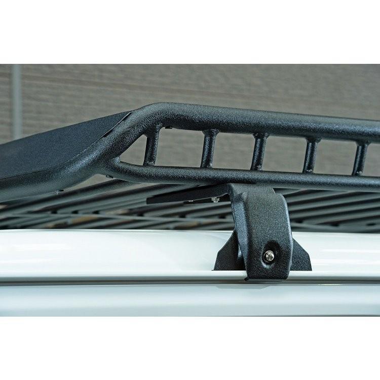 ショウワガレージ 新型ジムニー専用設計 軽量アルミ製ルーフラックMサイズスーパーワイド(フット付)傷防止シート、盗難防止ボルト1個付 JB64/JB74|ns-stage|04
