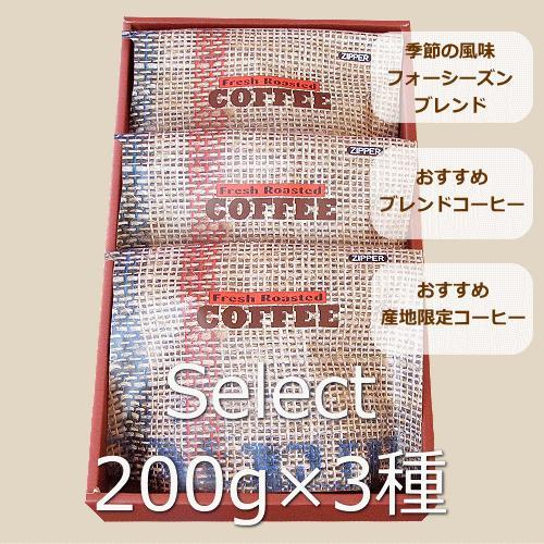 【宅急便指定】セレクト・コーヒーギフト 浅煎り 200グラム3種類  nsforest